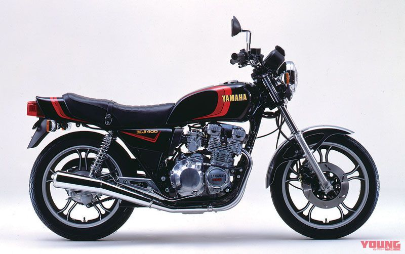 [Yamaha XJ400 dirilis tahun 1981] Dilengkapi dengan YICS untuk meningkatkan efisiensi pembakaran, dipasang di rem cakram.