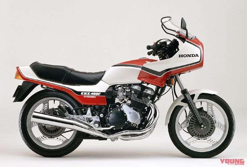[Honda CBX400F INTEGRA dirilis pada bulan Juli 1987] Ini adalah model motor dengan fairing yang disertifikasi pertama kali di Jepang. Dilengkapi dengan auto canceler turn signal.