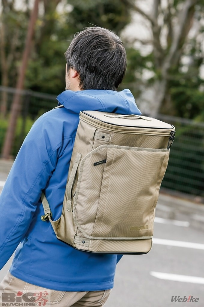 ▲ Dapat digunakan sebagai tas ransel