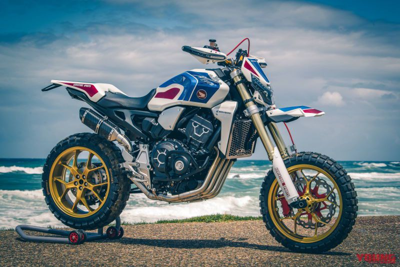 modifikasi cb1000r africa four crf1000r wheels and waves