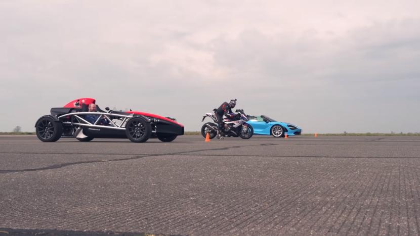 Adu Kecepatan Antara BMW 1000 RR, Ariel Atom 4, dan McLaren 720S