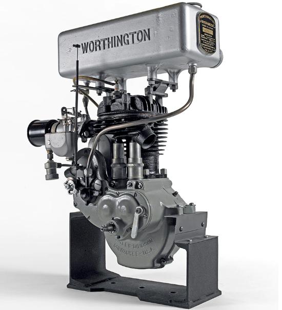 Mesin Pemotong Rumput Harley-Davidson untuk Worthington Mower Company