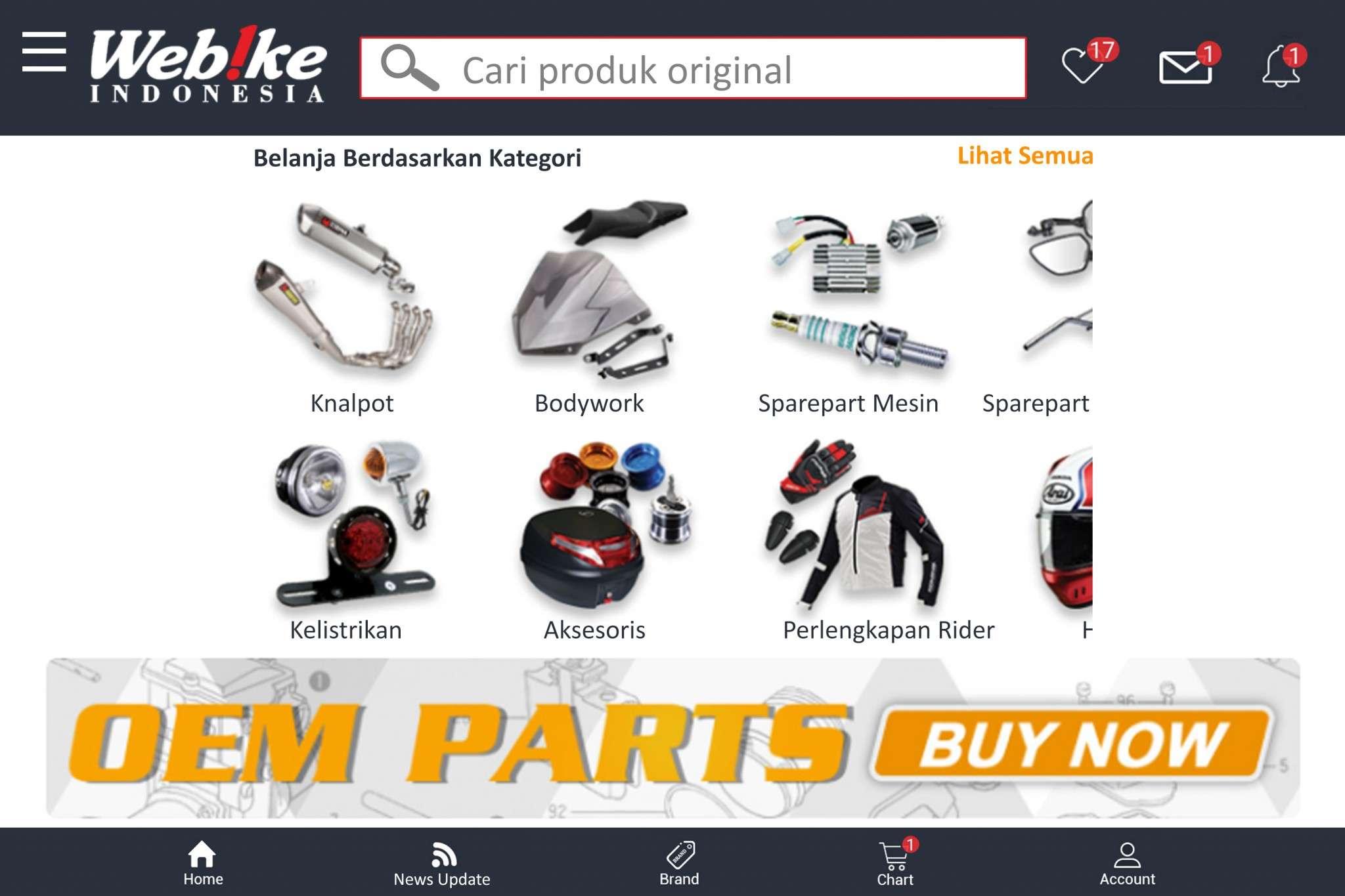 distributor sparepart original motor terlengkap