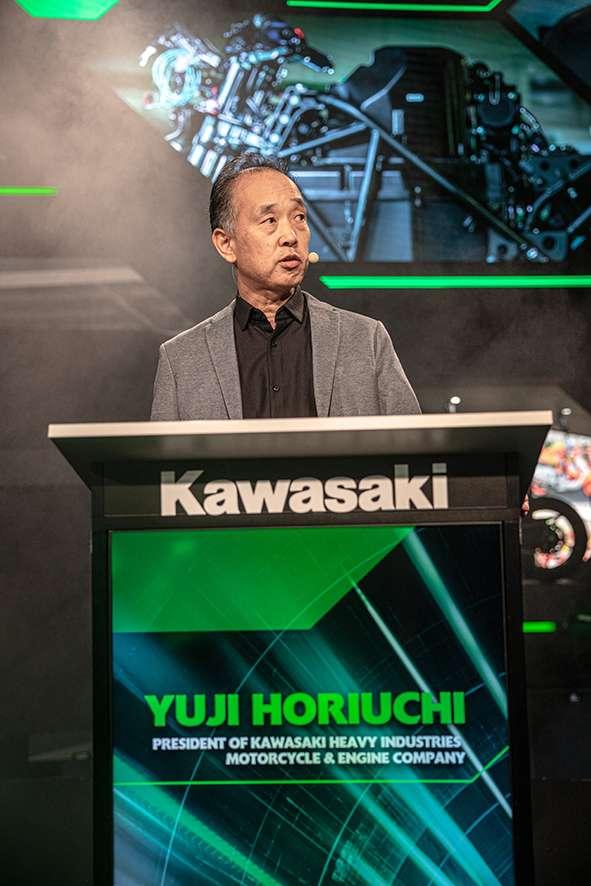 Presiden Kawasaki Heavy Industries Yuji Horiuchi