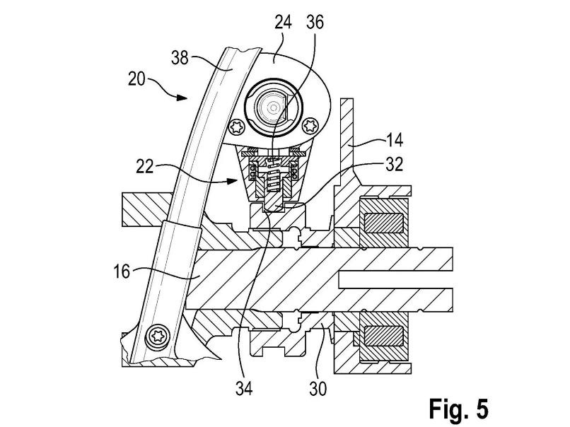 Gambar Paten Rancangan Kunci Gearbox Sepeda Motor BMW
