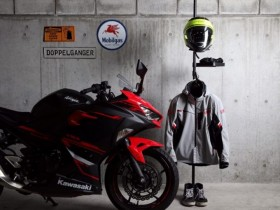 Rak Gantungan Helm Jaket Motor