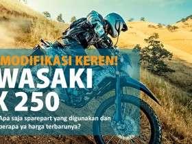 sparepart original & modifikasi kawasaki klx 250