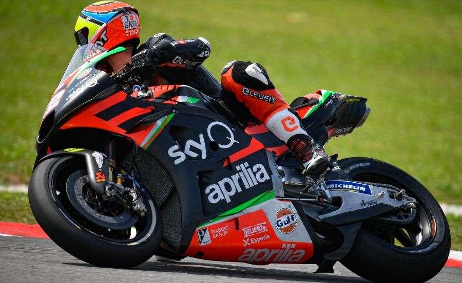 Lorenzo Savadori Aprilia Tes Pramusim Sepang MotoGP 2020