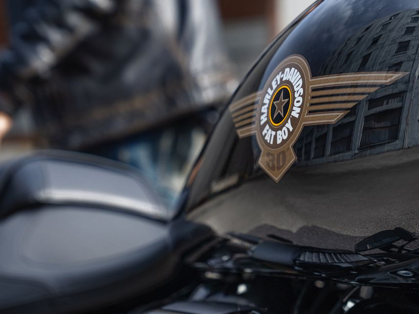 Sticker Sayap Khas Harley-Davidson Fat Boy