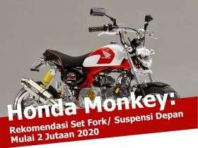ide modifikasi set fork suspensi depan honda monkey gorilla