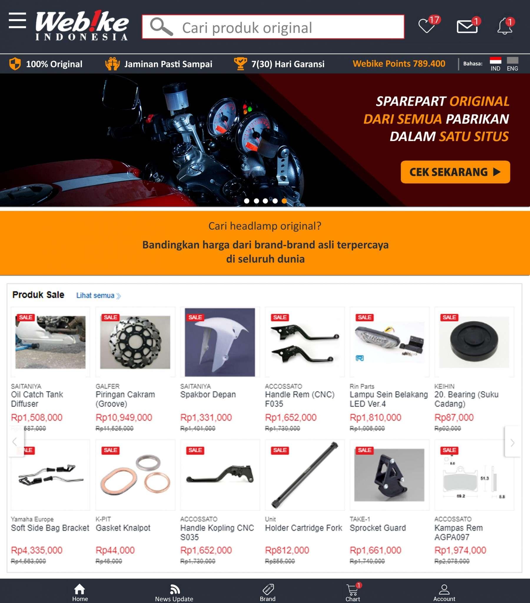 promo sparepart motor & aksesoris berkendara webike indonesia