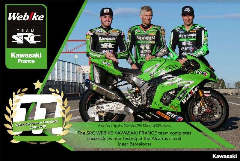 Tes Musim Dingin 2020 SRC Webike Kawasaki France