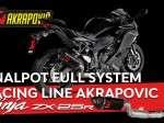 Knalpot Full System Racing Line Akrapovic Kawasaki Ninja ZX-25R Webike Indonesia