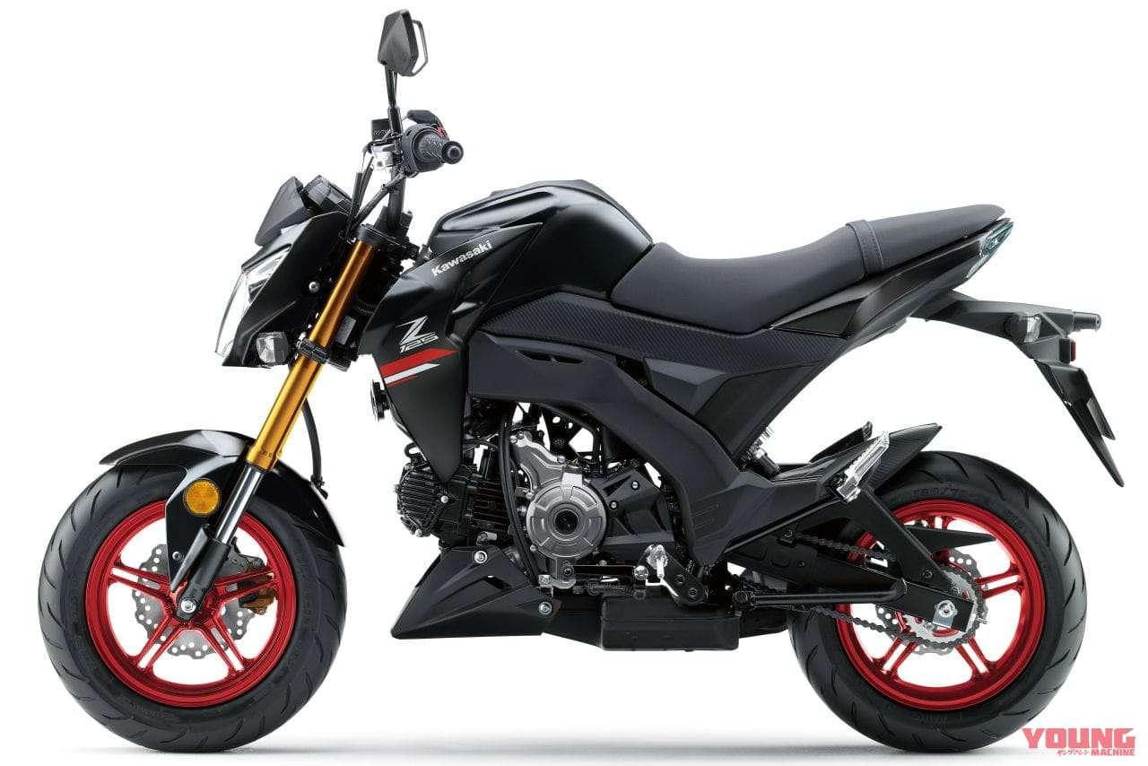 Kawasaki Z125 Pro 2021 Metallic Flat Spark Black