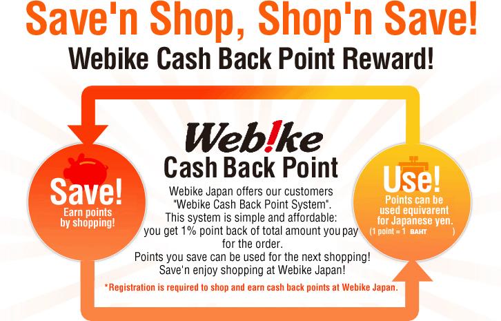 poin cash back webike